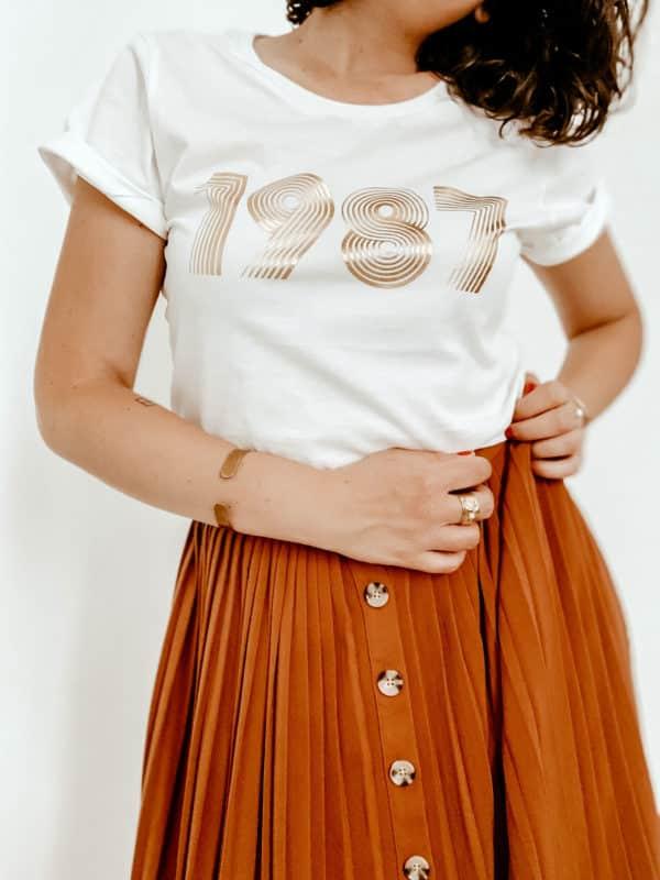 T-shirt année personnalisé femme