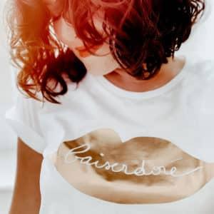 T-shirt femme bouche dorée