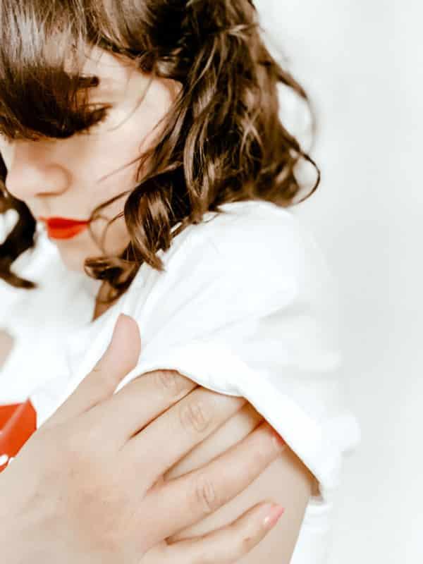 T-shirt femme bouche rouge
