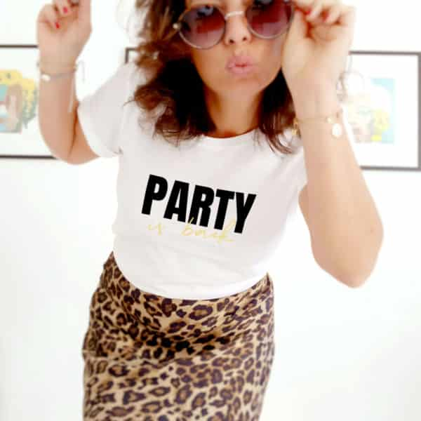 T-shirt femme party is back