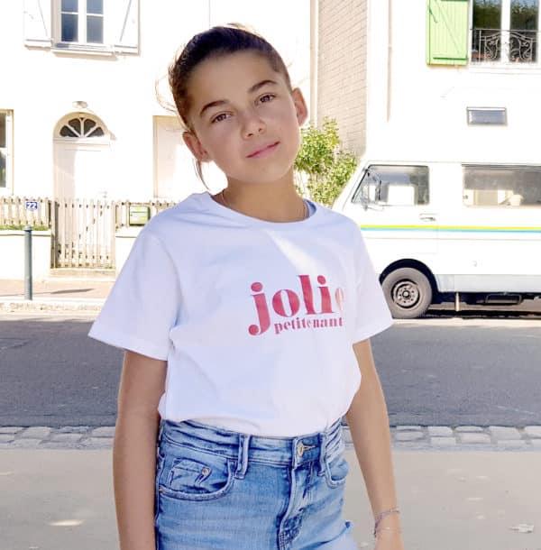 T-shirt enfant Jolie à personnaliser