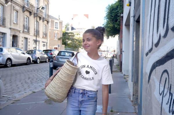 T-shirt enfant Un amour de... à personnaliser