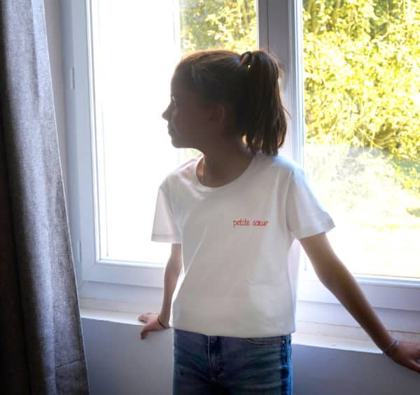 T-shirt enfant message personnalisé