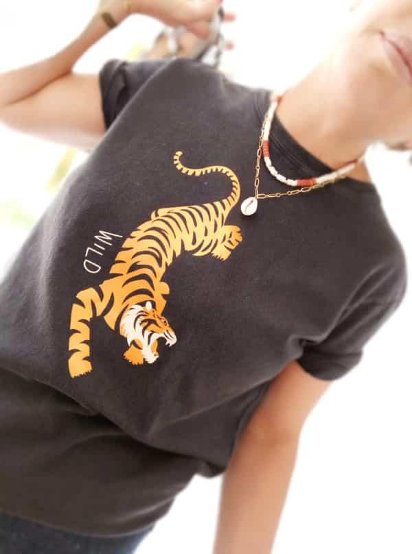 T-shirt Tiger boyfriend