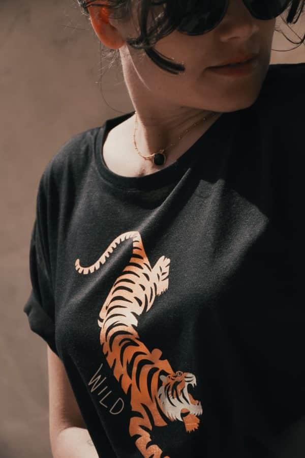 T-shirt Tiger crop