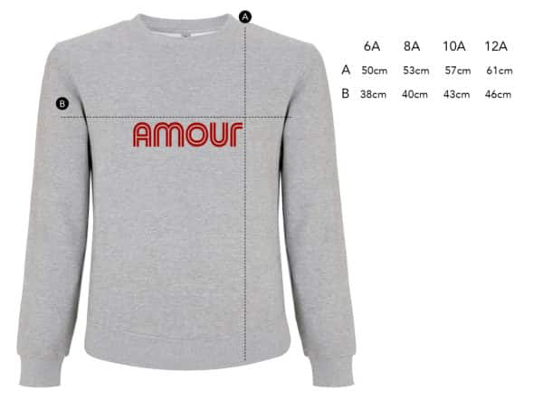 Sweat-shirt enfant Amour gris chiné