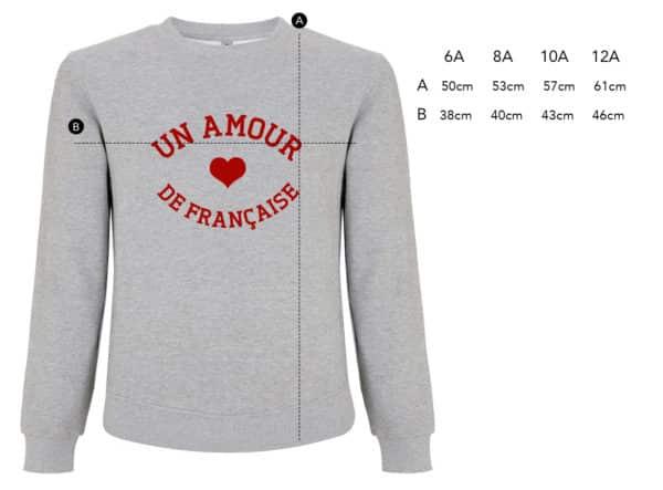 Sweat-shirt enfant Un amour de... gris chiné