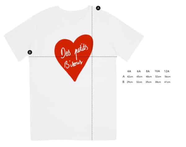 T-shirt enfant Des petits bisous