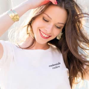 T-shirt Mademoiselle Madame message cœur