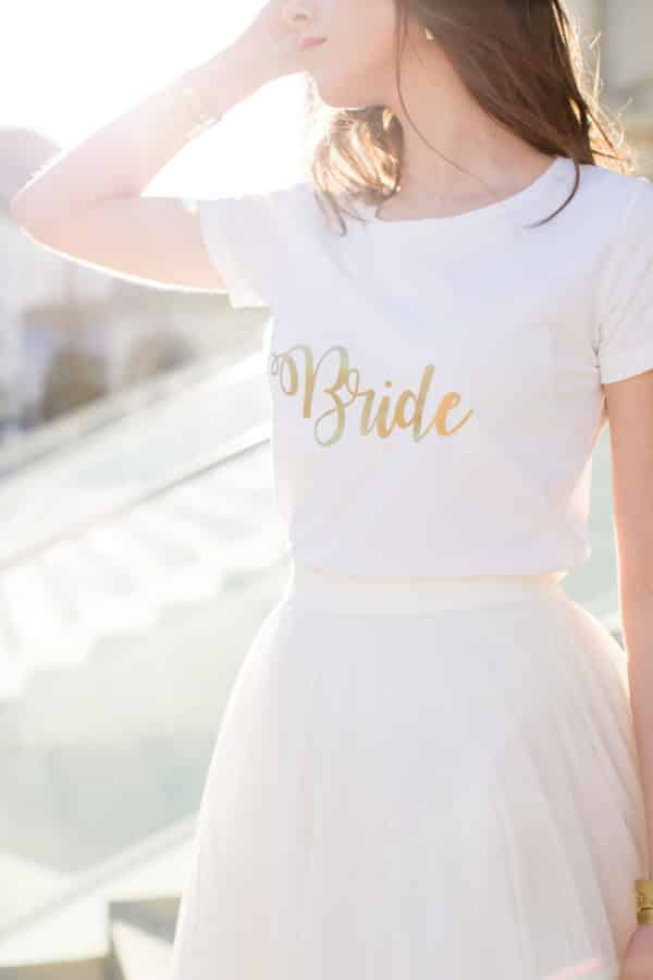 T-shirt Bride collection mariage
