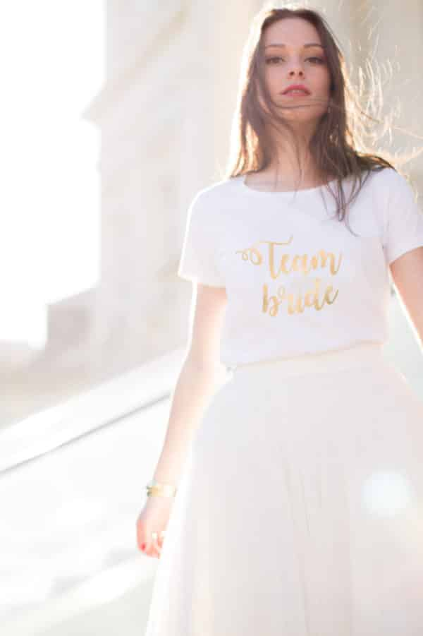 T-shirt Team Bride collection mariage