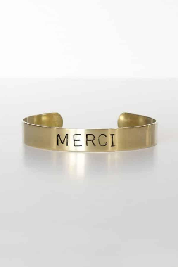 Bracelet message Merci