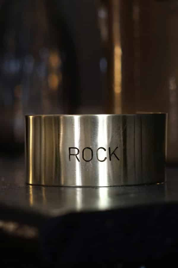 Bracelet message Rock en laiton
