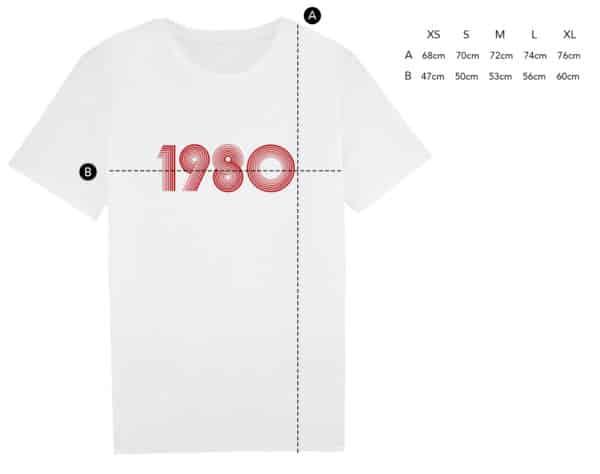 T-shirt année personnalisée