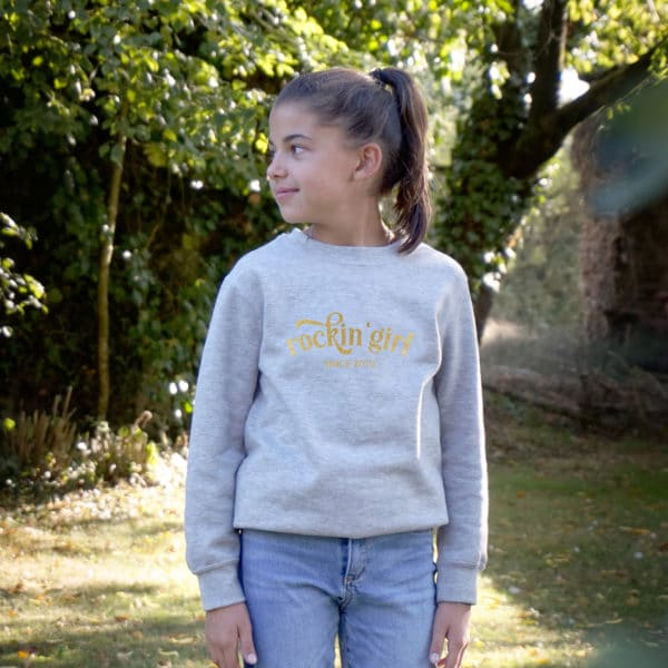 Sweat-shirt enfant Rockin'girl à personnaliser