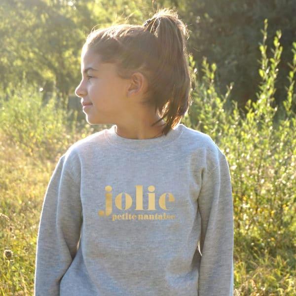 Sweat-shirt enfant Jolie... à personnaliser
