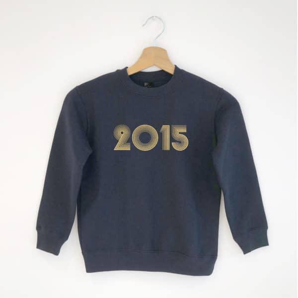 Sweat-shirt enfant année à personnaliser