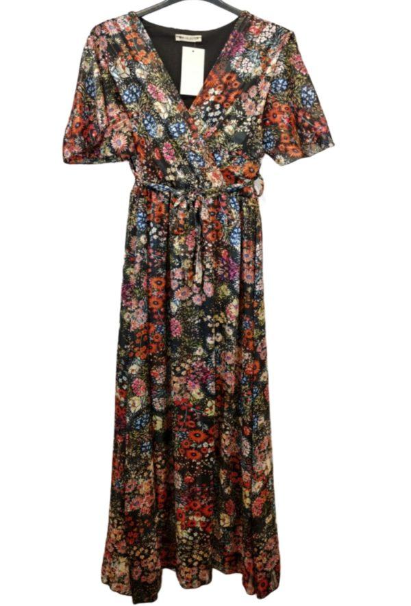 yelloz robe longue imprime3 black 1