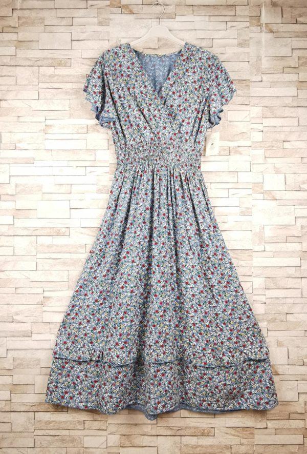 new sunshine robe longue a petites fleurs denim 1