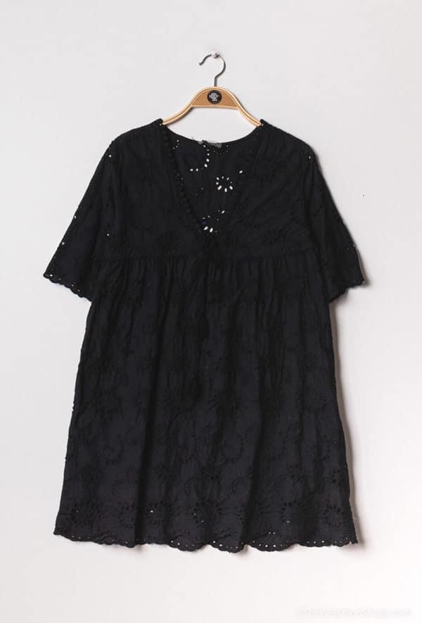 y fashion robe brodee et perforee1 black 1