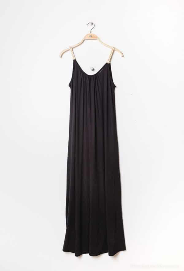 y fashion robe longue en jersey black 1