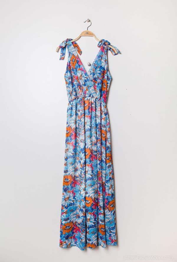 y fashion robe longue fleurie3 cyan 1