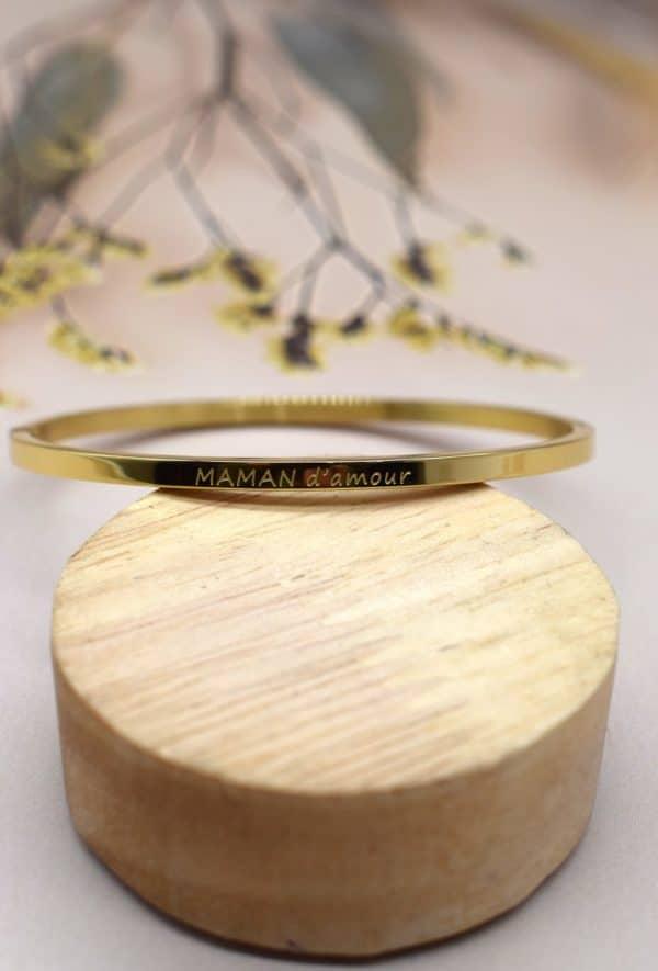 rouge bonbons bracelet en acier maman d amour gold 1