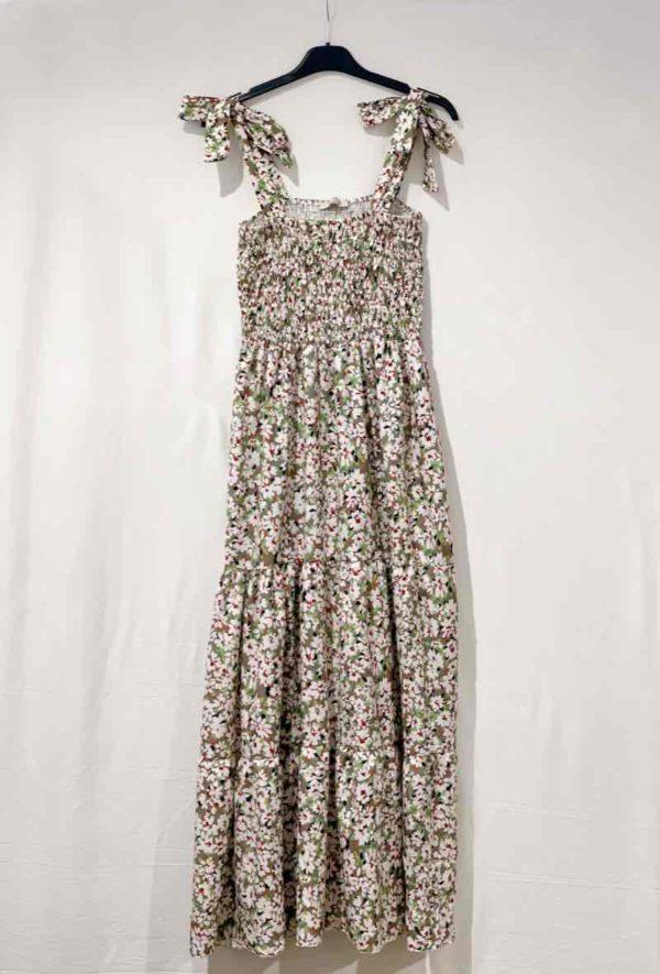 kaia robe longue fleurie32 kaki 1
