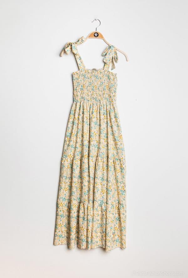 kaia robe longue fleurie50 yellow 1