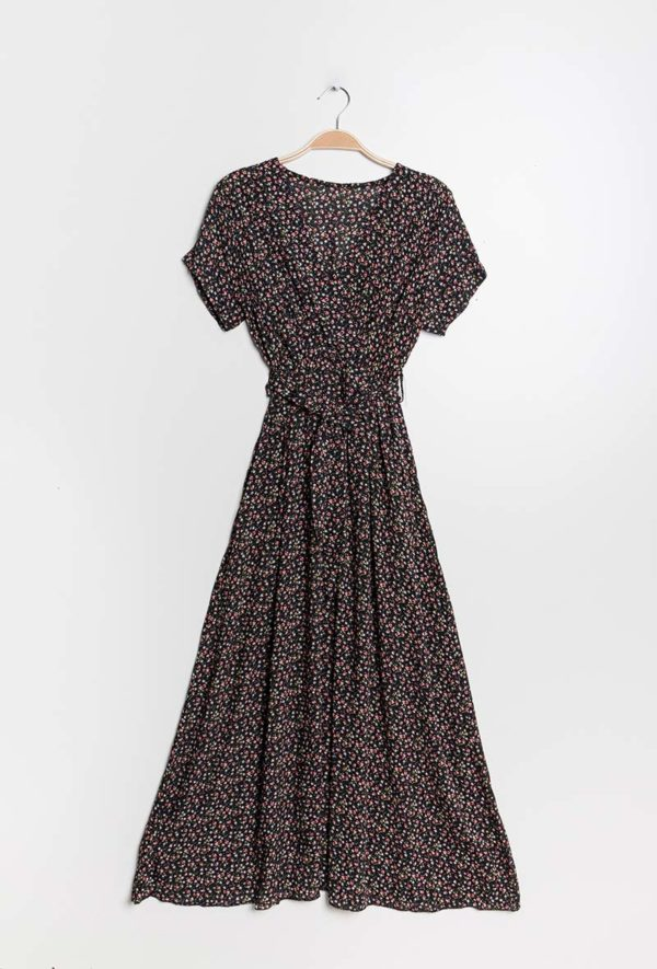 mylee robe longue fluide et imprimee3 black 1