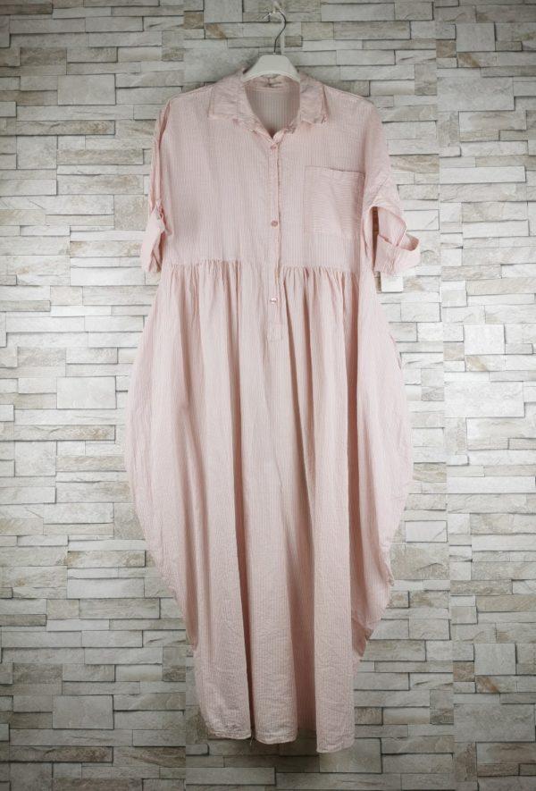 new sunshine robe chemise longue rayures pink 1