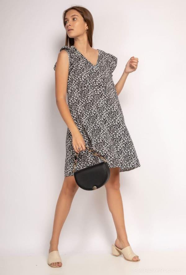 y fashion robe fleurie29 black 1