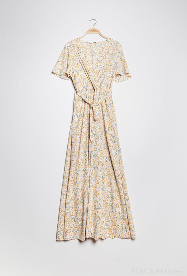 y fashion robe longue fleurie10 yellow 1