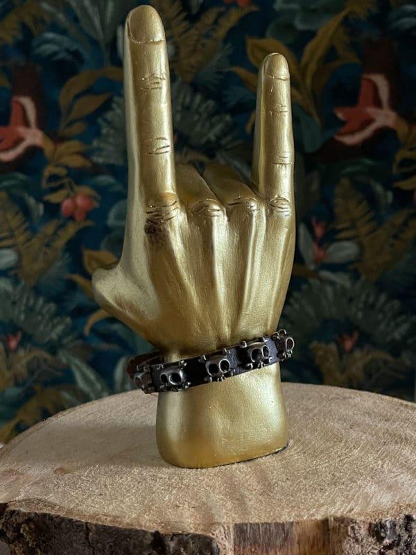 bracelet skull cuir 03