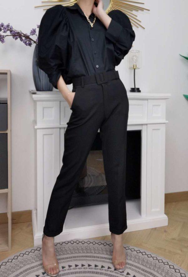 chemise manches bouffantes black 1