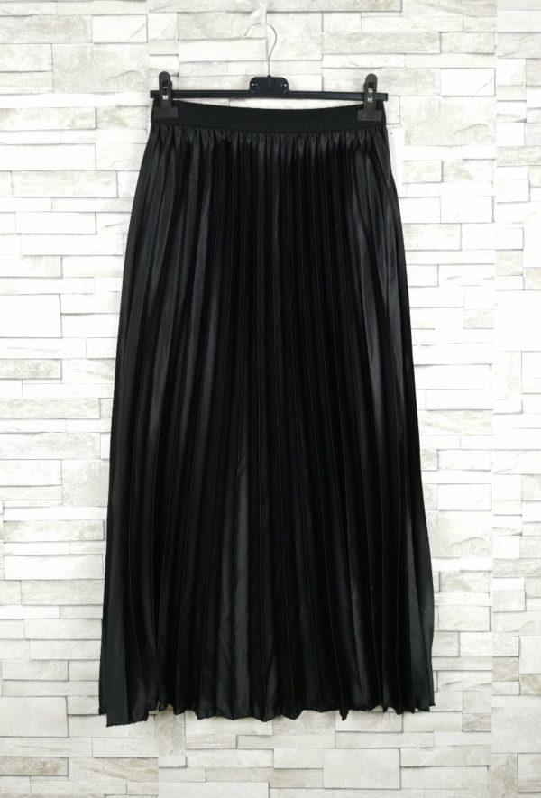 jupe plissee satinee black 1