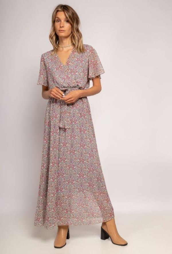 robe longue cache cur a imprime fleurs6 lilac 1